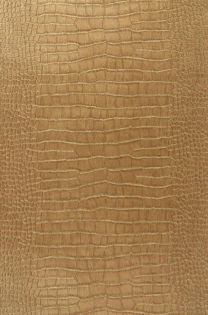 *NEW* Faux Leather Brown Textured Alligator Pleather Fabric Swatch
