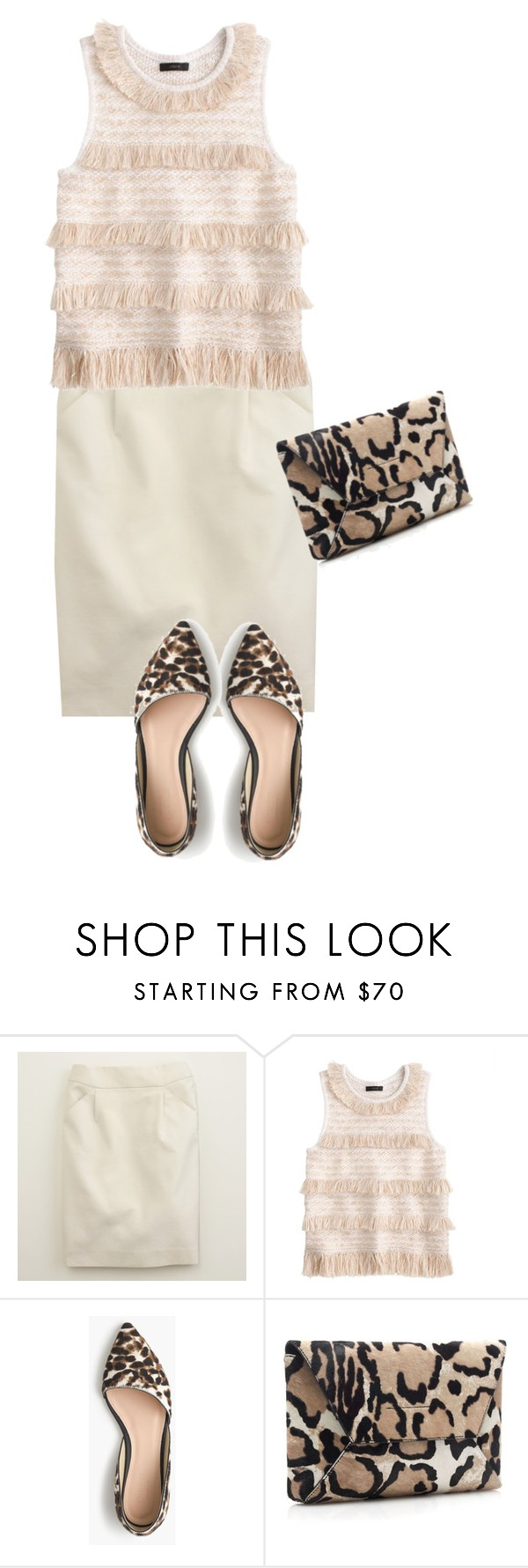 """""""Raffia And Animal Print"""" by dauchka22 ❤ liked on Polyvore featuring J.Crew"""