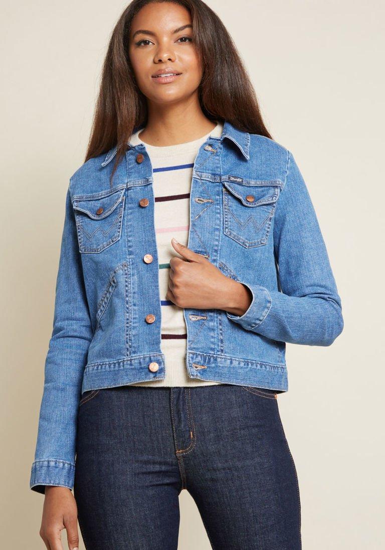 Wrangler X Mc Dependable Denim Jacket In Stone Wash In L Denim Jacket Denim Jackets [ 1097 x 768 Pixel ]