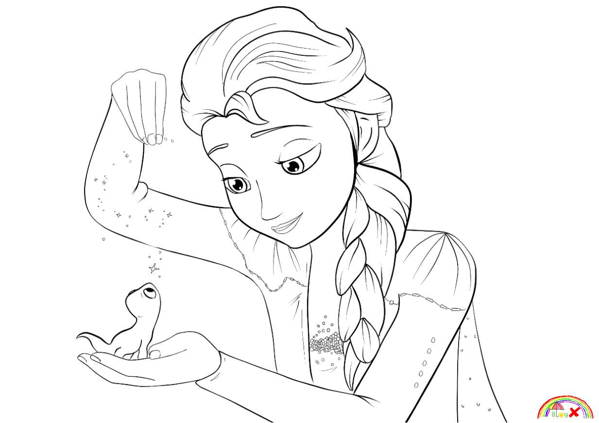 Disney Frozen 2 Elsa Coloring Page Di 2020 Anak