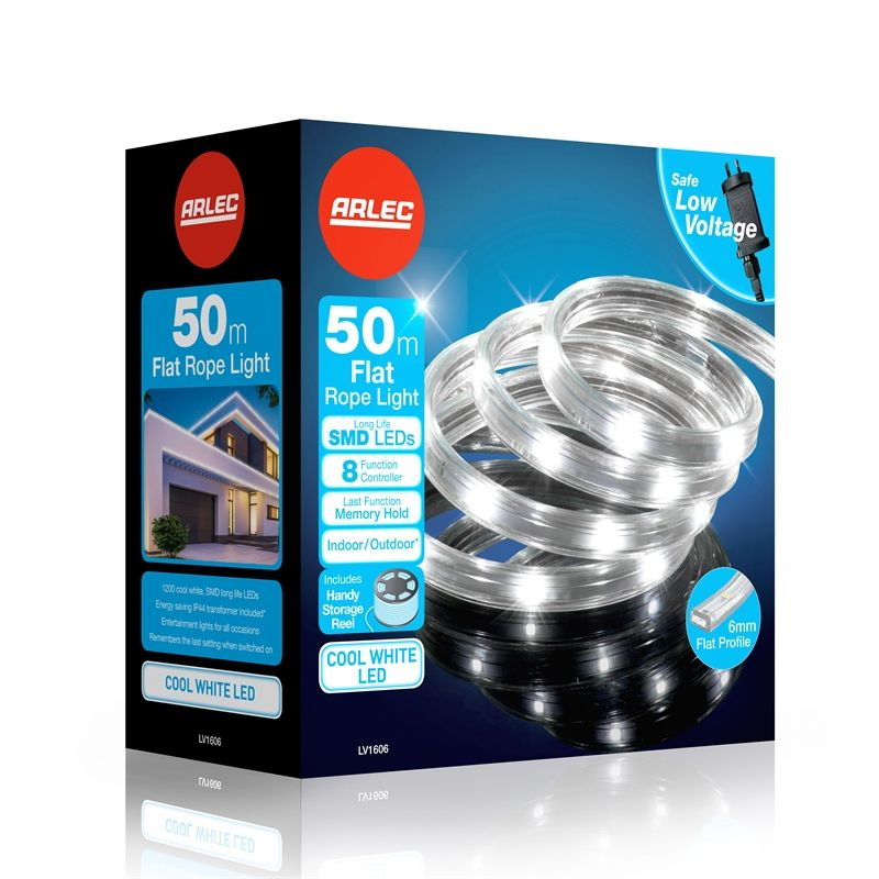 Arlec Low Voltage 50m Led Flat Rope Light Cool White Bunnings Warehouse Rope Light Cool Stuff Light