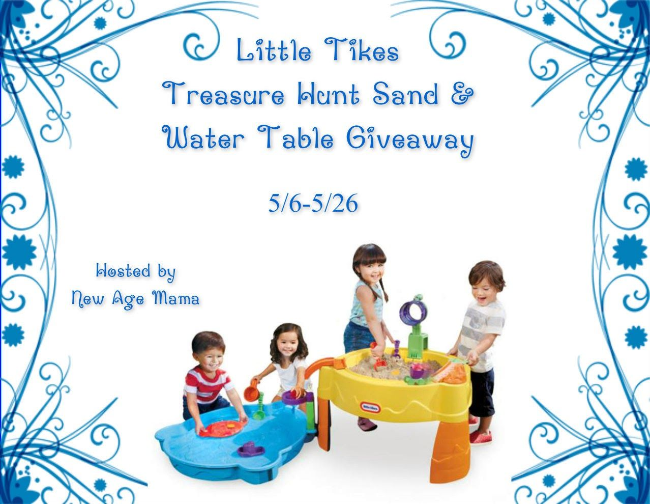 Little Tikes Treasure Hunt Sand & Water Table Giveaway - Ends 5/26/15 10 am