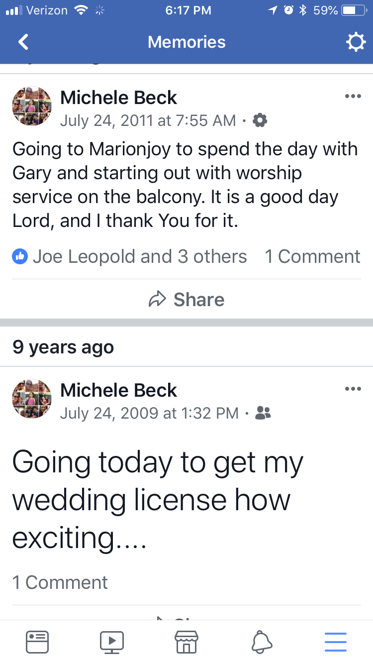 2009 We Got Our Marriage License 2011 He Had An Anoxic Brain Injury