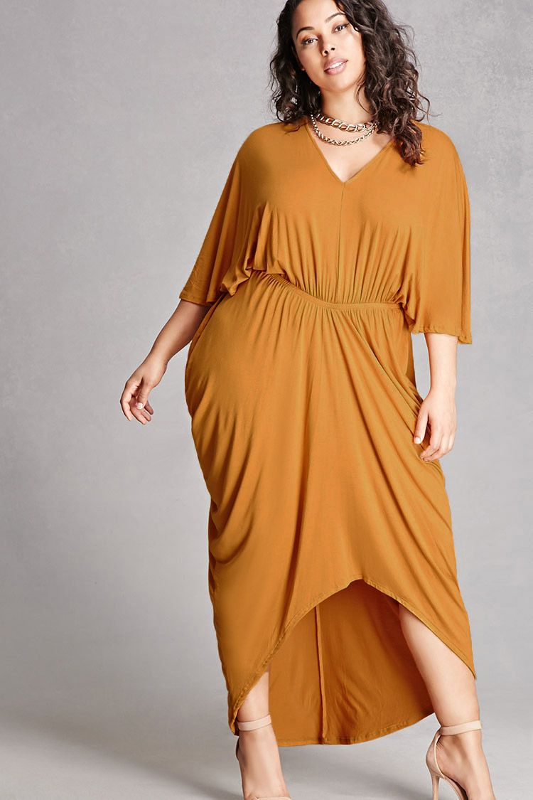 Plus Size Draped Dress | Tabria Majors | Dresses, Draped ...