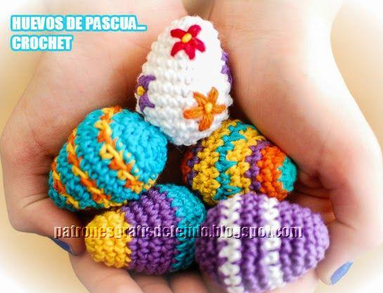 Patròn de Mini Huevos de Pascua Crochet Paso a Paso | Crochet y dos ...