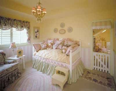 Feminine Charms Toddler Bedroom Decorating Idea~love The Picket Fence Door  Gate Idea!