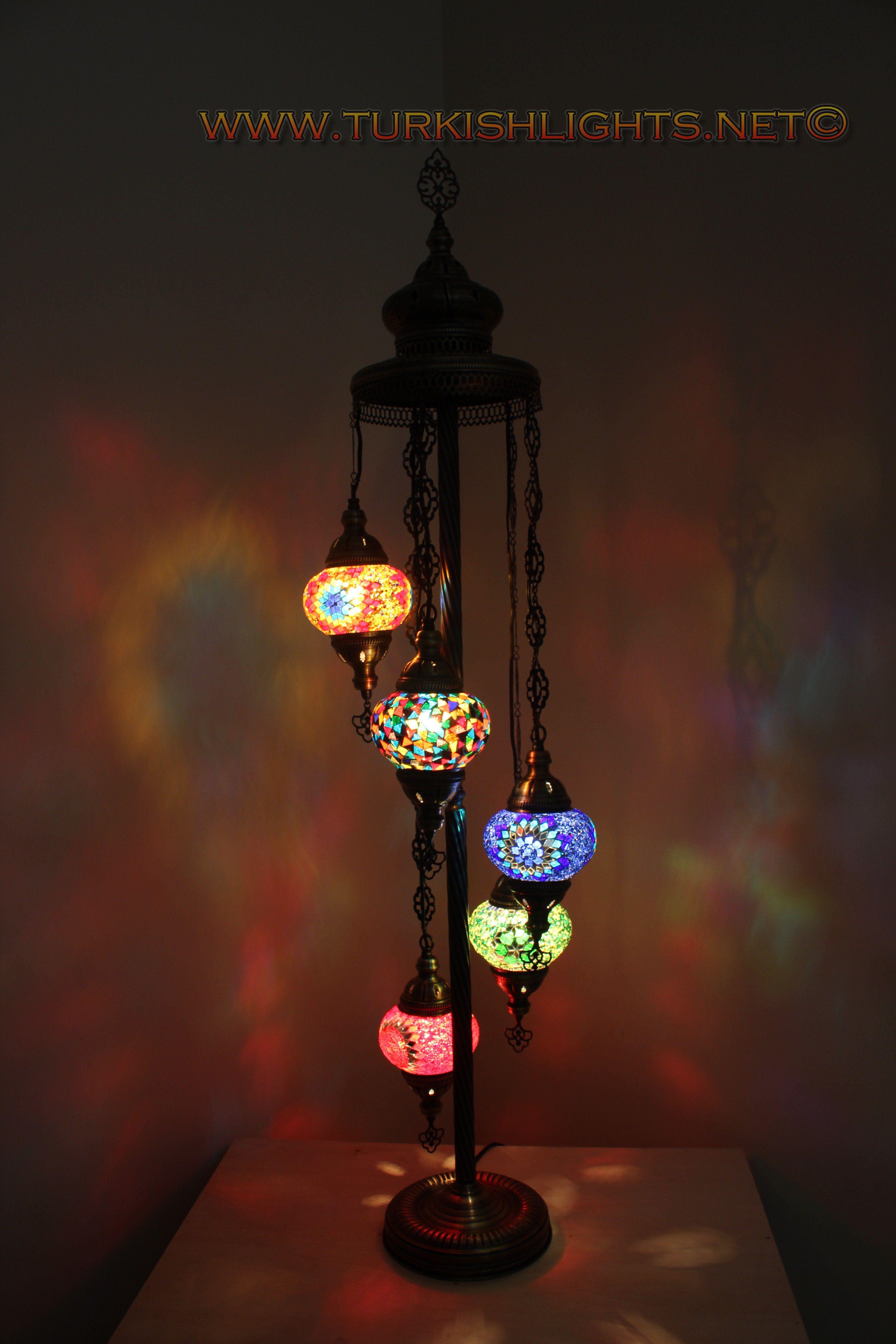 LAMBADER 5 BALL TURKISH MOSAIC  FLOOR LAMPS