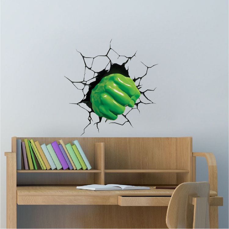 Hulk Smash Wall Decal   Superhero Wall Design   Hulk Smash Wall Cling    Marvel Comics