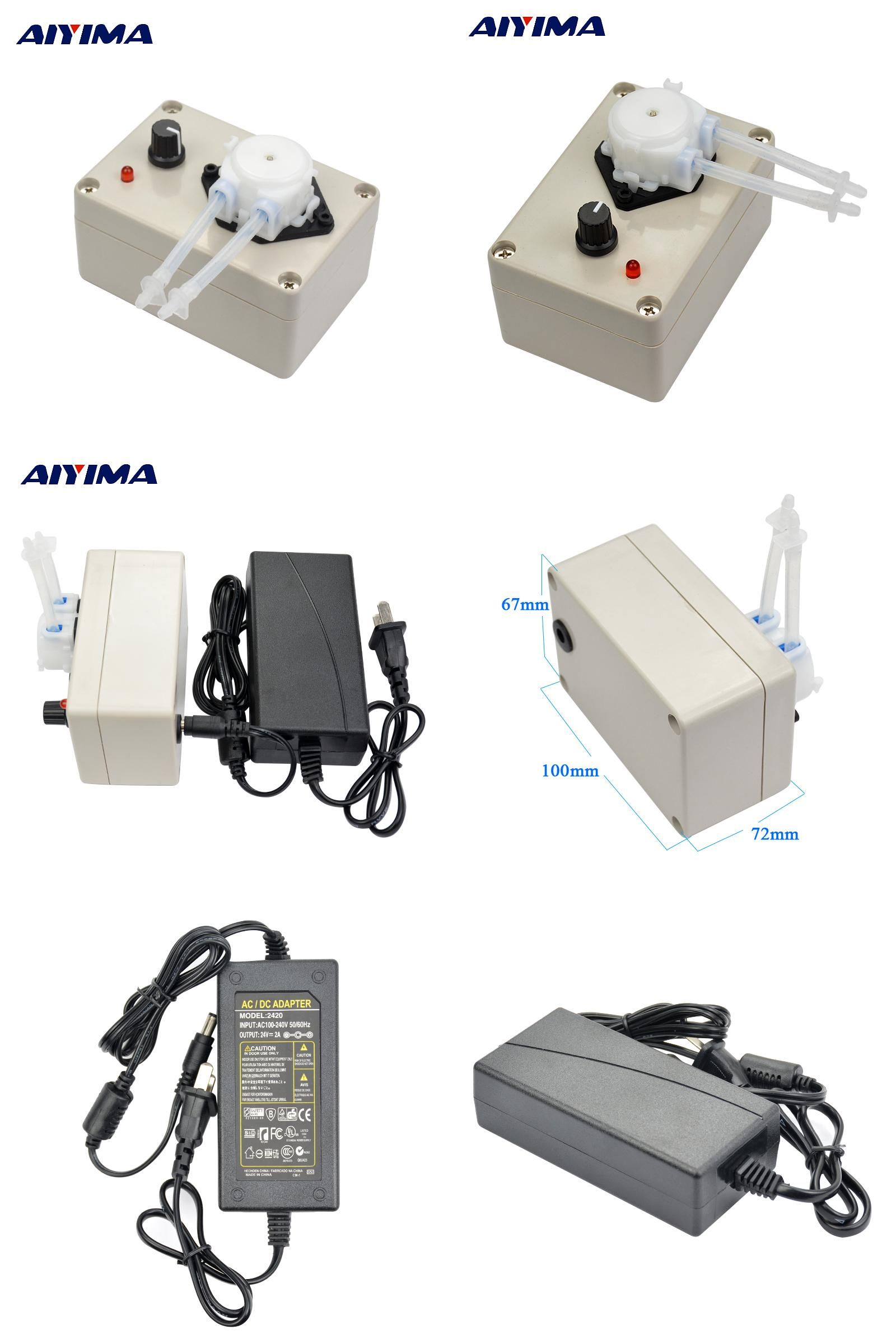 Visit to Buy] Aiyima New 12V 24VDC Adjustable speed Dosing