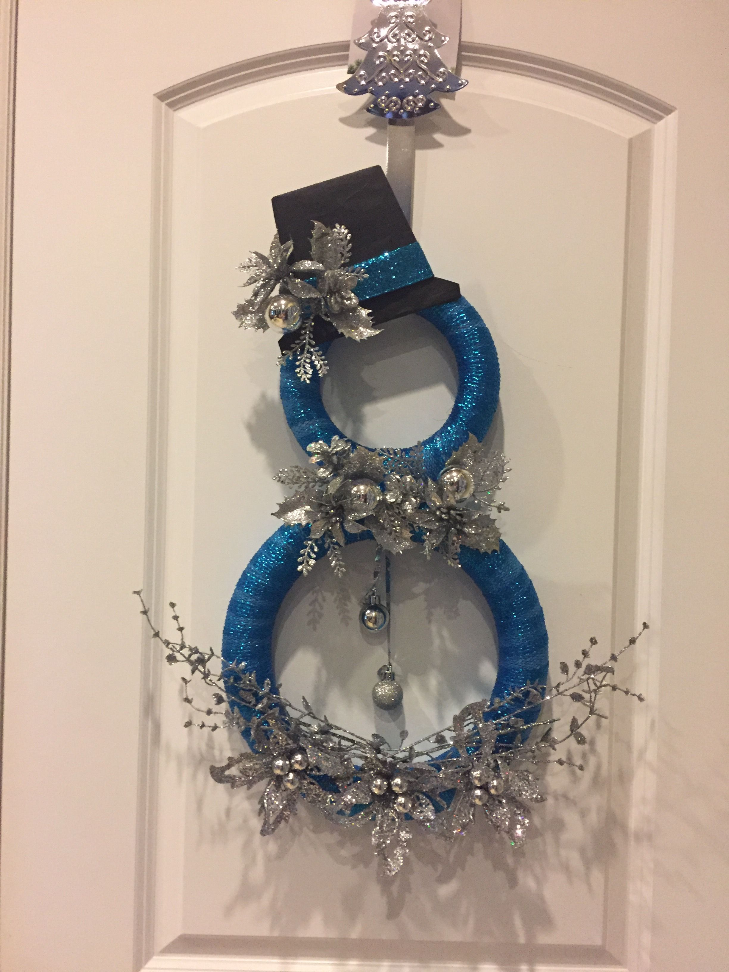Beautiful Metal Blue Snowman embellishments for cards /& crafts