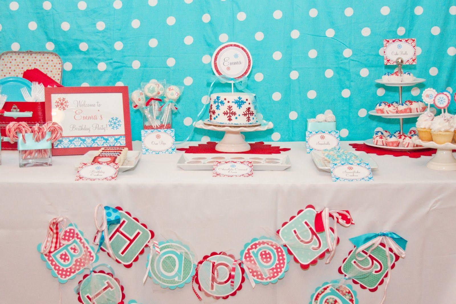 Emmas Sweet Snowflake Birthday Party Sweet Customers Snowflake