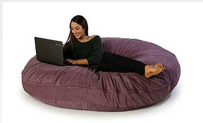 Convertible Cocoon Floor Pillow / Foam Chair Description: A Unique Foam Bean  Bag That Converts To A Large, Round Floor Pillow.