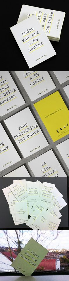 Quirky And Humorous Messages On Business Cards For A Brand Agency