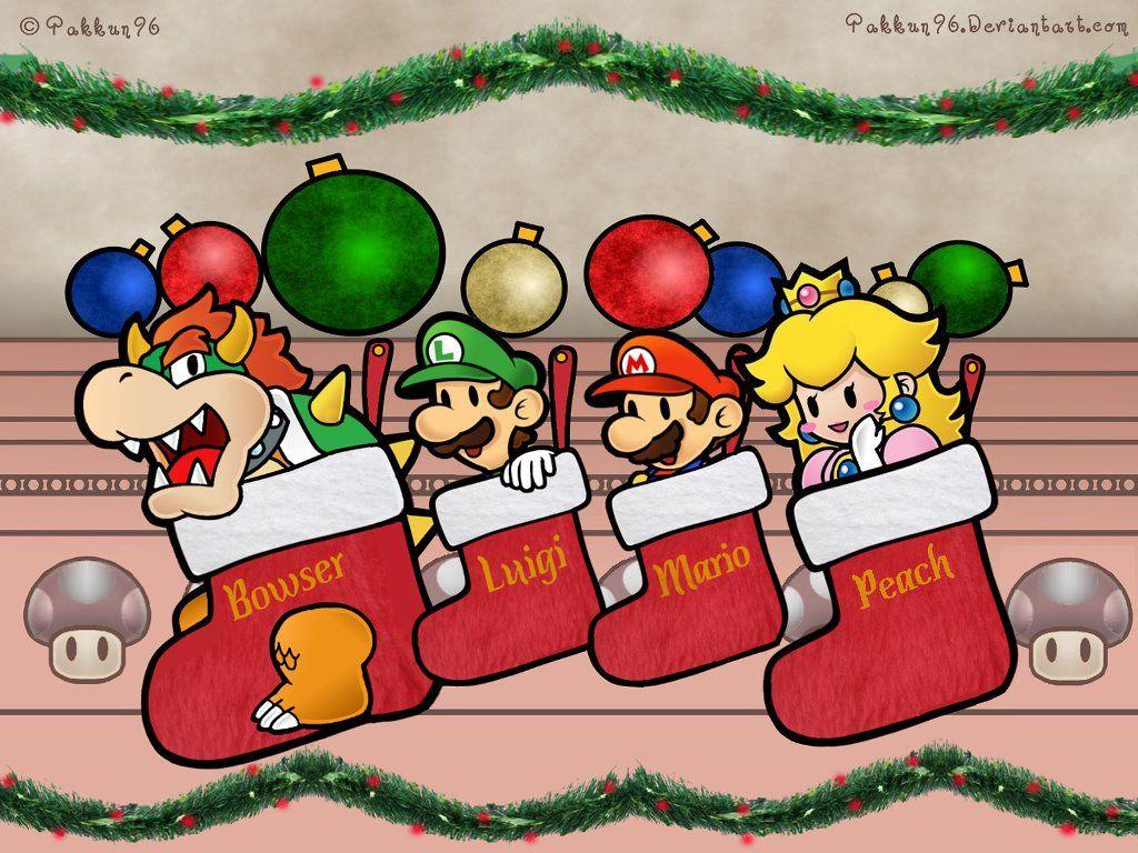 Games Wallpaper Super Mario Xmas Mario Paper Mario Super Mario