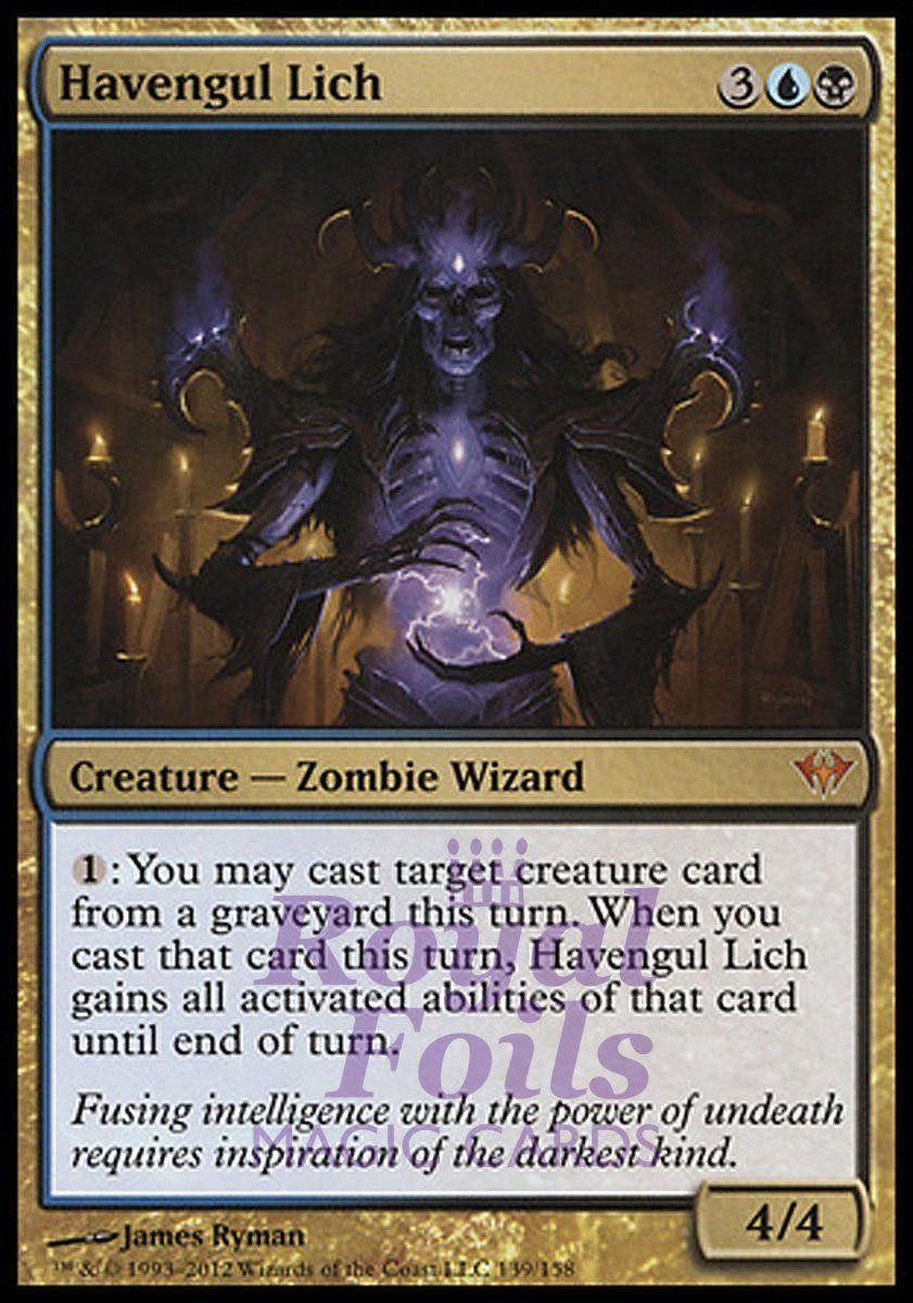 Human Wizard Rare XATHRID NECROMANCER NM mtg M14 Black