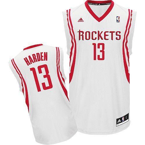 de2fc3841445 Revolution 30 Rockets  13 James Harden White Home Stitched NBA Jersey