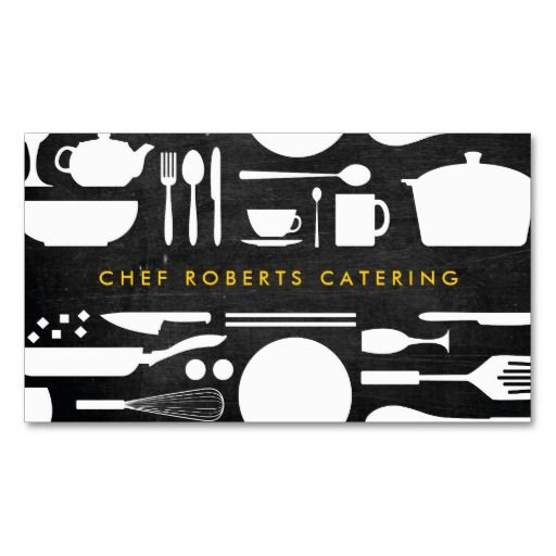 Kitchen collage on black wood business card chef pinterest black and white kitchen collage no 4 business card template colourmoves