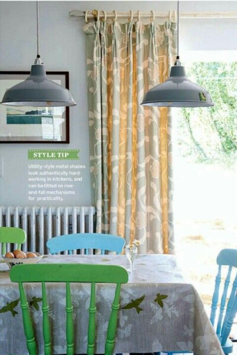 Aqua chairs like these in my dining space with a bench seat instead?