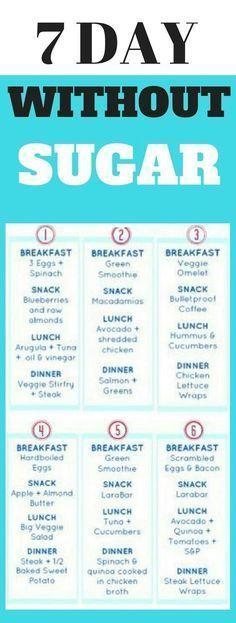 Lose 30 lbs with This 7-Day Sugar Detox Menu Plan #detox #sugar #healthyrecipes
