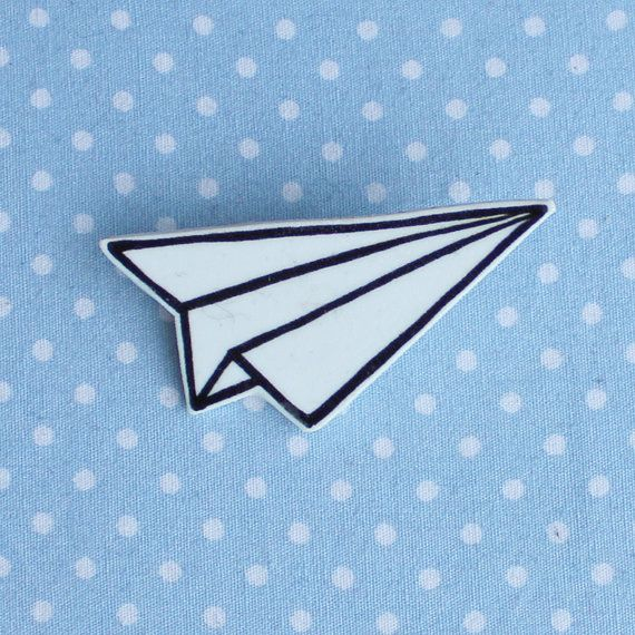 broche d 39 avion papier origami illustr par clortycatcrafts sur etsy bijoux pinterest. Black Bedroom Furniture Sets. Home Design Ideas