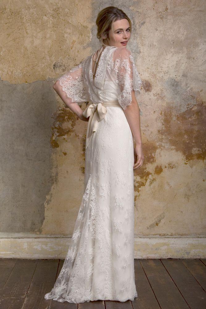 Jasmine Lace KimonoKimono StyleSallyVintage Inspired Wedding DressesJasmineWedding