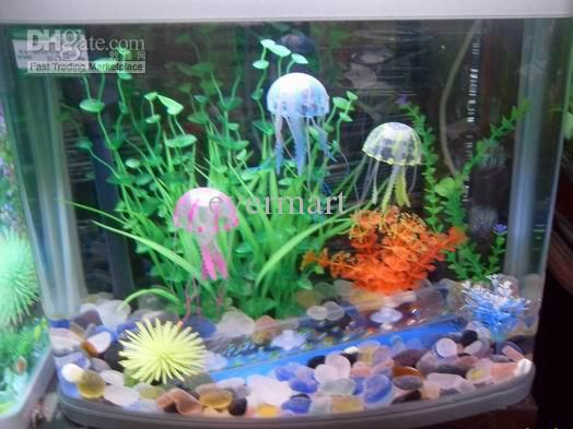 Betta Fish Bowl Decorations Aquarium Decorations Software Jellyfish Small Size Available 3