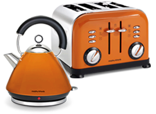 Copper orange kettle   Kettle, Double