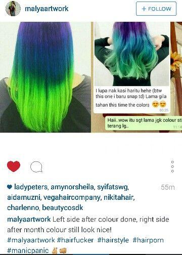 Purple Blue Green Hair Arcticfox Hair Dye Doesn T Fade Much Green Hair Blue Green Hair Dyed Hair