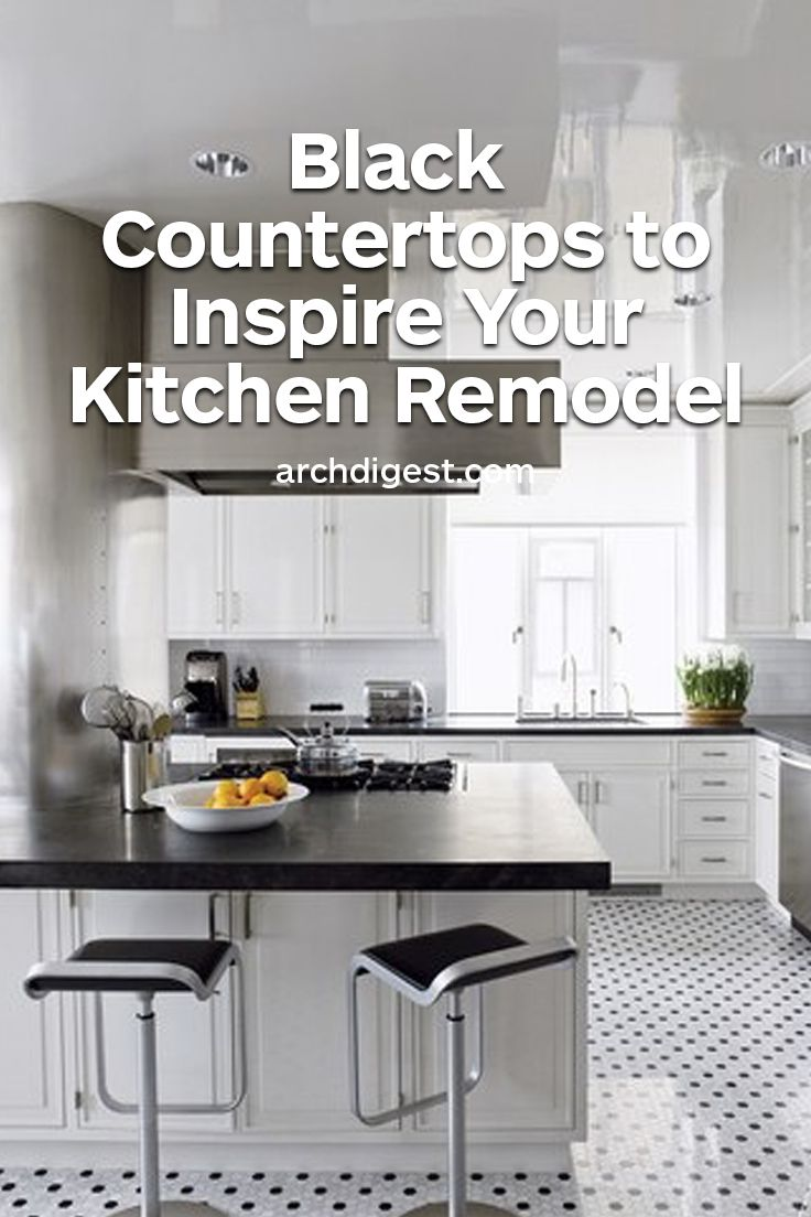 25 black countertops to inspire your kitchen renovation black countertops kitchen countertops on kitchen remodel dark countertops id=45384