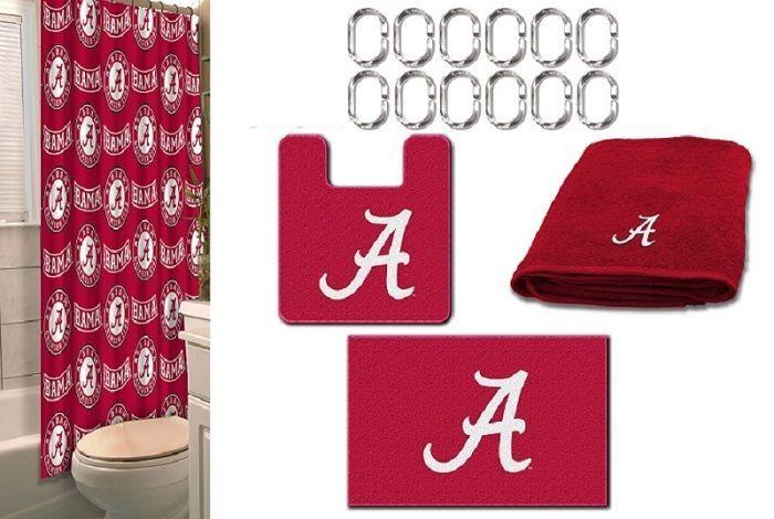 Merveilleux COMBO* Alabama Crimson Tide 19 Pc Bathroom Set   Shower, Mats, Towels U0026  Hooks #Northwest #AlabamaCrimsonTide