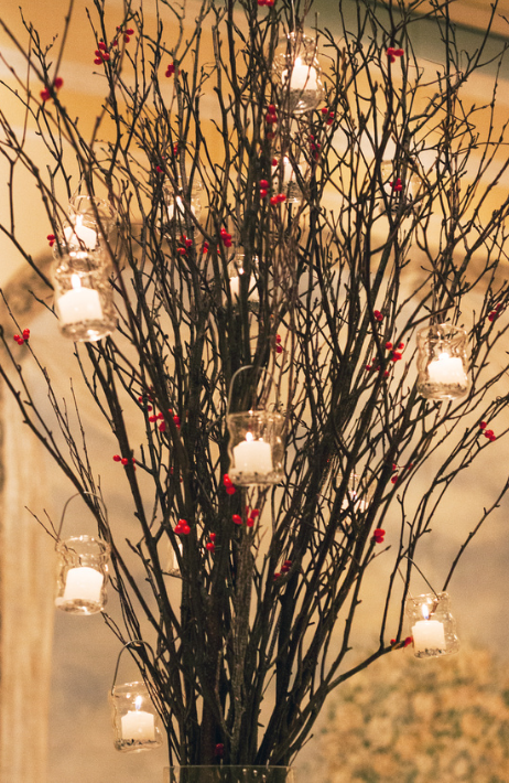 Tall Winter Centerpiece in 2020 Winter centerpieces