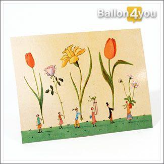 Grußkarte Blumenkinder