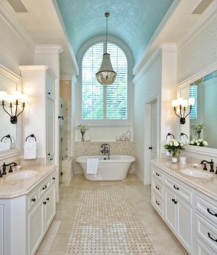 stilvolles badezimmer in weiß und hellbraun Badezimmer Ideen - badezimmer ideen wei
