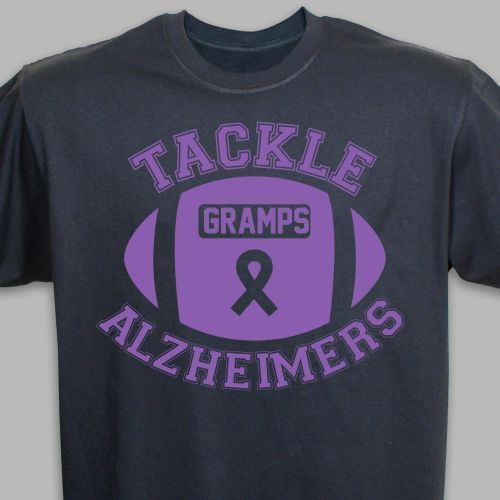 2c2ce3f37 Tackle Alzheimer's T-Shirt black & Purple | Alzheimer's & Dementia ...