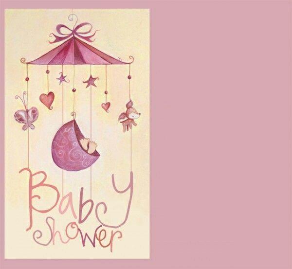 Invitacion baby shower niña rosa invitaciones Pinterest Babies