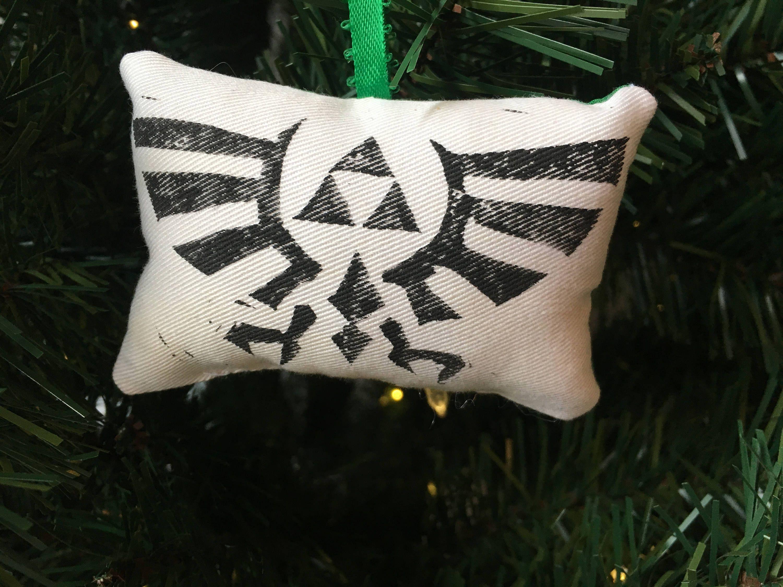 Zelda Hyrule Crest Christmas Ornament Decoration Legend Link Video ...