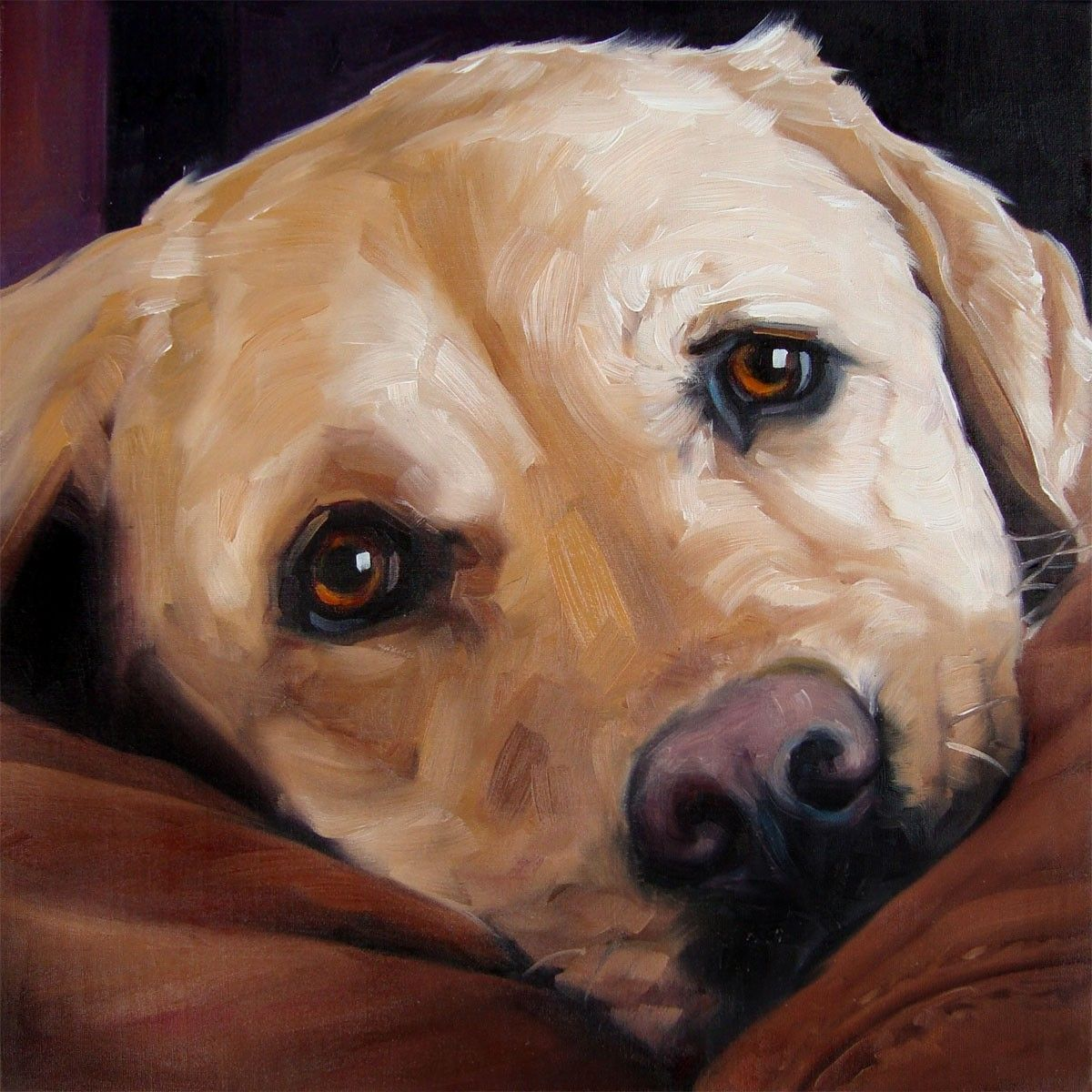 Pet Portrait Oil Painting. I like the brush strokes and