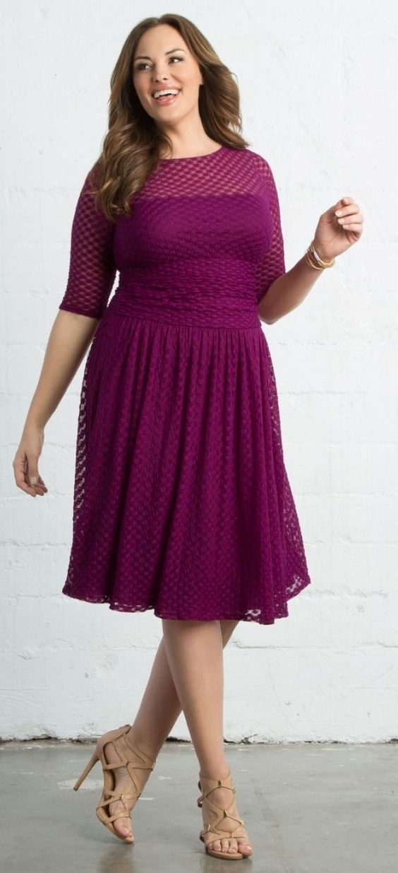 45 Plus Size Wedding Guest Dresses {with Sleeves | Vestiditos