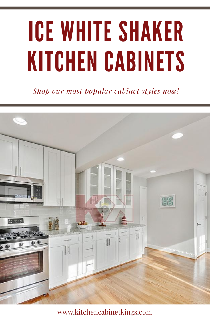 Ice White Shaker Cabinets In 2020 Kitchen Cabinets In Bathroom Kitchen Cabinet Kings White Shaker Cabinets
