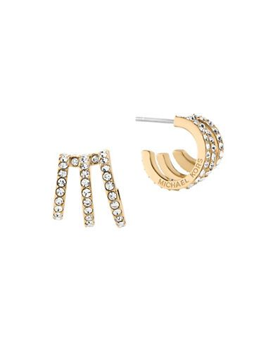 5253c5f1f0265f Michael Kors Modern Brilliance Cubic Zirconia Goldtone Hoop Earrings ...