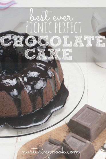 Need a dessert for your next cookout? Something that is simple to prepare and doesn't need to be refrigerated? Then this cake is your answer. It's so moist and chocolatey! My husband and I are chocolate fanatics and we totally adore this recipe. Take just one bite and you'll see why!  The ingredients take less than ten minutes to mix together, then just throw it in the oven and bake. It looks fancy and tastes so delicious your friends will never guess how easy it is to make.