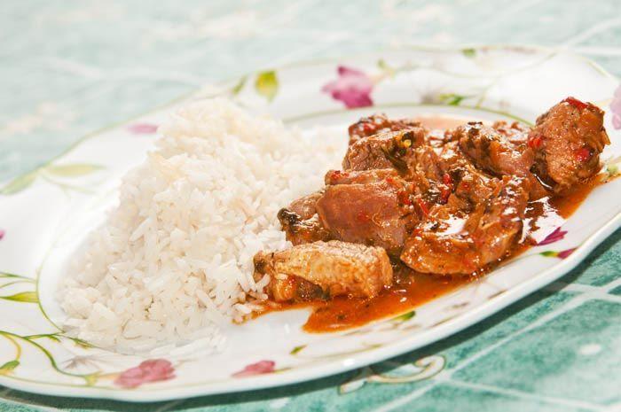 Como Hacer Arroz Blanco Facil Receta Receta Estofado Estofado De Cerdo Como Cocinar Arroz
