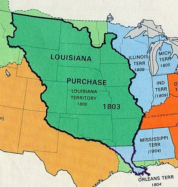 Mar 26 1804 The Louisiana Purchase Is Divided Into The Territory - Map-of-us-in-1804