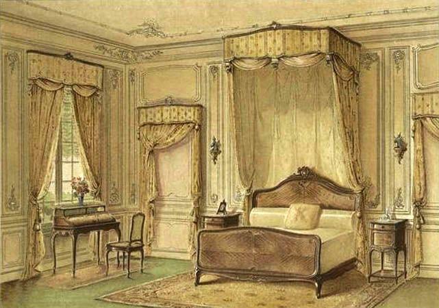 georges rmon dcorateur planches couleur chambre style louis xv vers 1900
