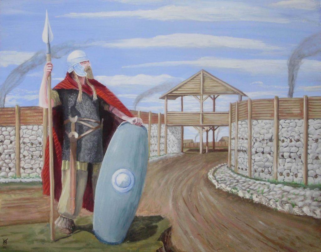 Celtic Oppidum - Guard at the gate