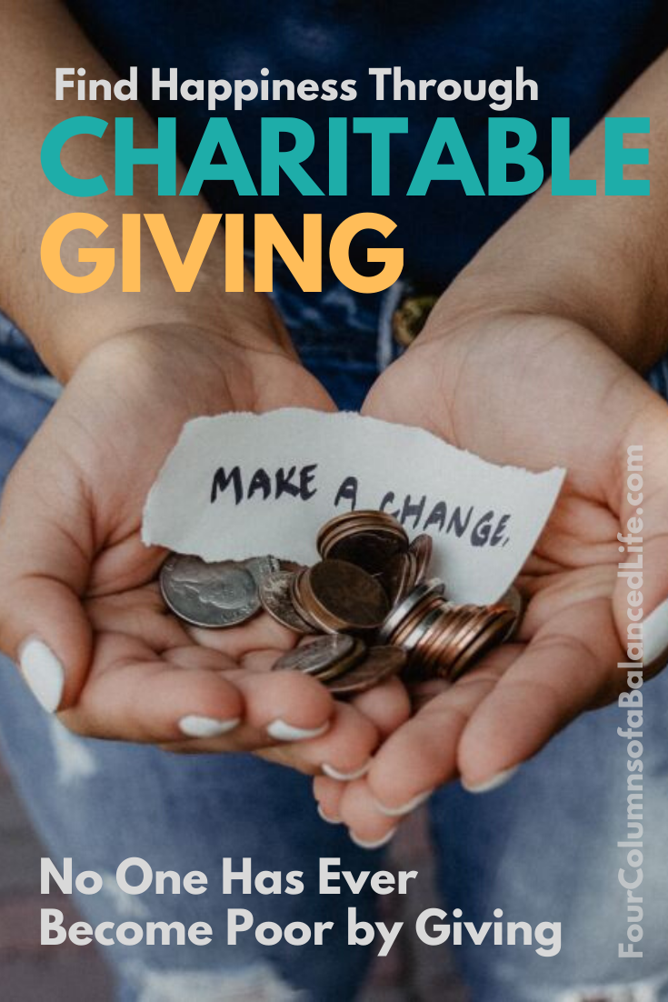 It's not how much we give but how much love we put into giving. Check out the first article in my new series 'How to Use Money to Make You Happier'! Today we're going to talk about charitable giving. #charity #giving #charitablegiving #donation #fundraising #money #finances