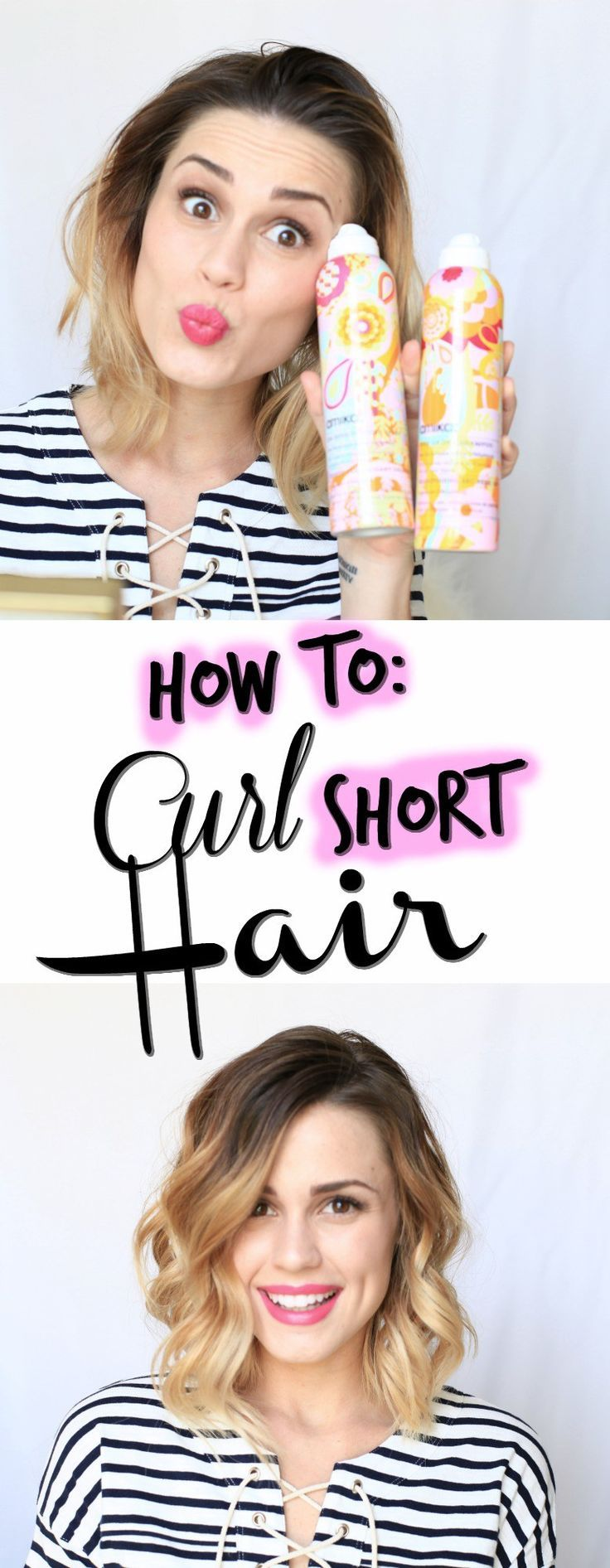 How To Curl Your Bob How To Curl Short Hair Short Hair Styles Hair Styles