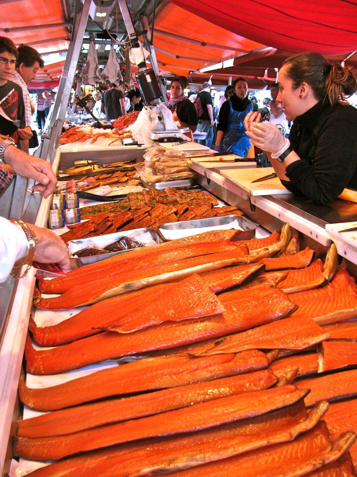 Salmon Anyone The Fish Market In Bergen Norway Norway Food Street Food Market Norwegian Food