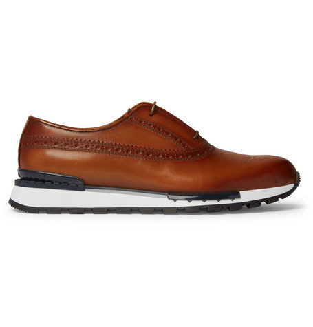 Berluti Fast Track Leather Brogue Sneakers | Chaussure