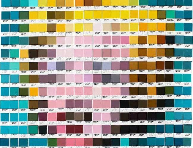 Using only pantone swatches, artist recreates classic paintings - ral color chart
